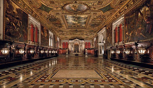 The Sala Grande in the Scuola Grande di San Rocco, San Polo, Venice, Italy
